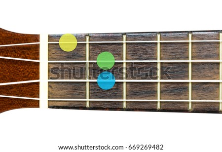 Ukulele Chord G Minor Major 7 Stock Photo Edit Now 669269482