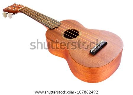 ukulele guitar family from Hawaiian - stock photo