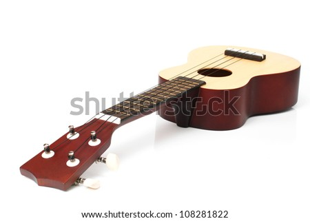 ukulele isolated white