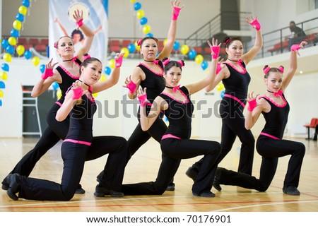 ULAN-UDE, RUSSIA - MAY 2: The Festival of aerobics and fitness, May 2, 2010 in Ulan-Ude, Buryatia, Russia.