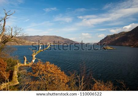 Ullswater Lake, Lake District National Park, England, United Kingdom - stock photo