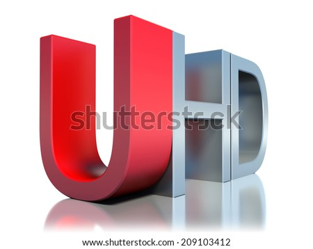 ultra high definition television technology concept - stock photo