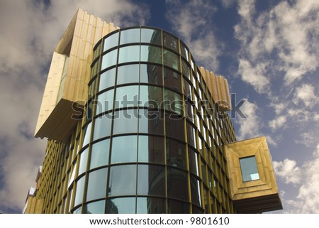 """Ultra modern """"Bling Bling"""" building in Liverpool City center, Liverpool, UK - stock photo"""