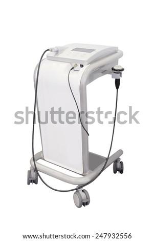 ultrasound apparatus under the white background  - stock photo