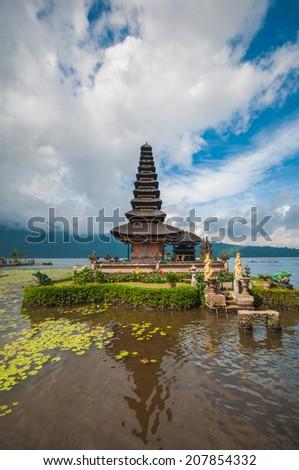 Ulu Danau Temple, Lake Bratan, Bali, Indonesia - stock photo