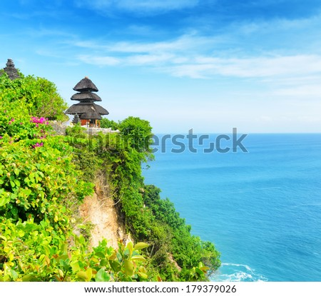 Uluwatu temple, Bali, Indonesia. - stock photo