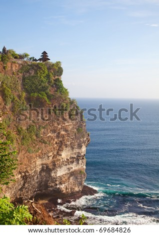 Uluwatu Temple near Ubud. Bali, Indonesia - stock photo