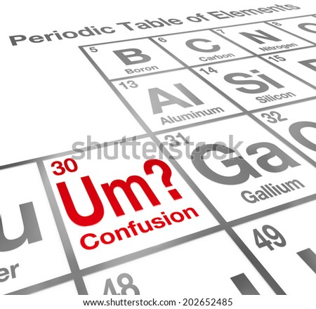 Um element confusion words on periodic stock illustration 202652485 um the element of confusion words on a periodic table difficult lesson misunderstanding urtaz Gallery