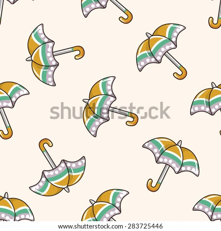 Umbrella , cartoon seamless pattern background