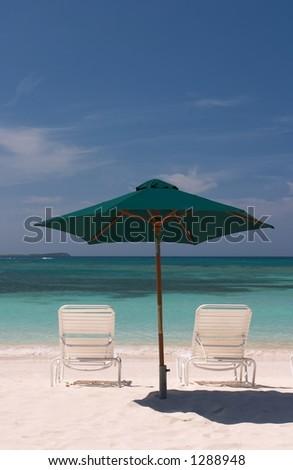 Umbrella for Two - stock photo