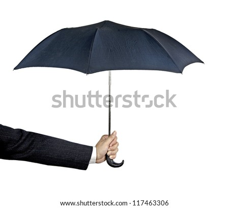 Umbrella in hand