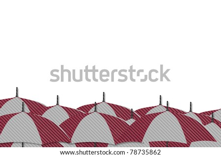 Umbrella made from Corrugated cardboard  isolated - stock photo