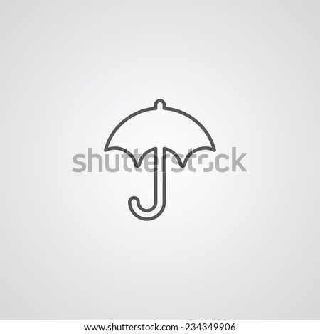 Umbrella Sign Icon Stock Vector 525502042 - Shutterstock