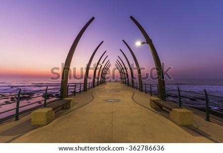 Umhlanga pier Durban South Africa - stock photo