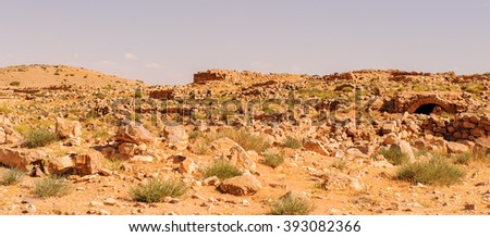 Umm ar-Rasas, ruins from the Roman, Byzantine, and Muslim civilizations. - stock photo