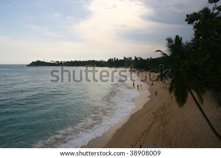 unawatuna beach, sri lanka - stock photo