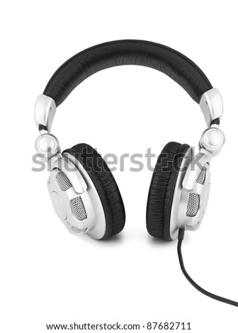 Unbranded headphones on a white background - stock photo