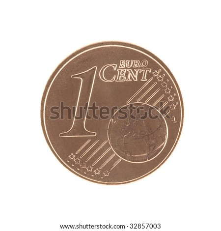 Uncirculated 1 eurocent - stock photo