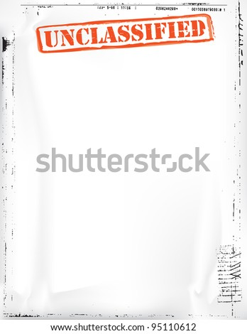 Unclassified Document - stock photo