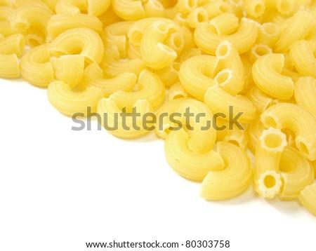 Uncooked Italian pasta macaroni - stock photo