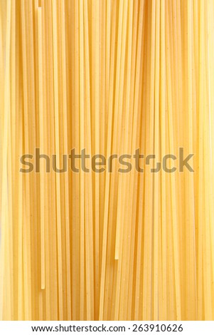 Uncooked Italian spaghetti on a white background. - stock photo