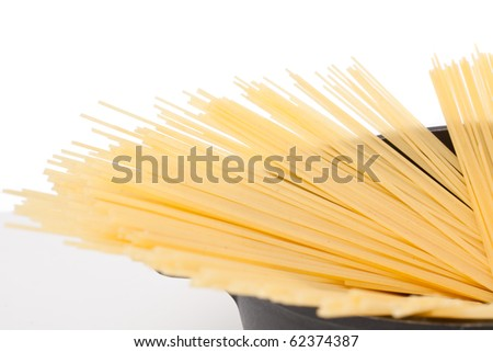 Uncooked spaghetti bolognaise - stock photo