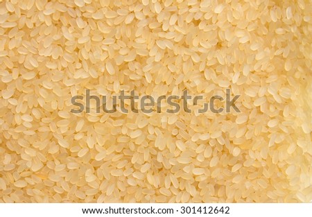 Uncooked white rice for background - stock photo