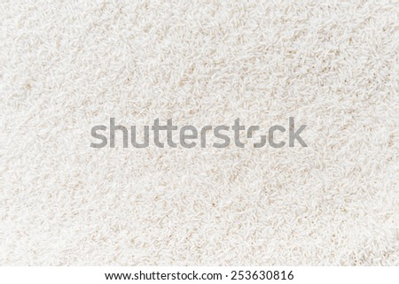 Uncooked white rice is background - stock photo