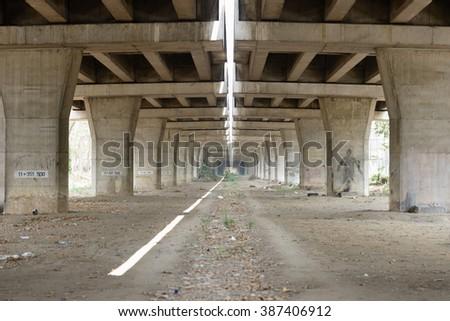 Under Bridge - stock photo