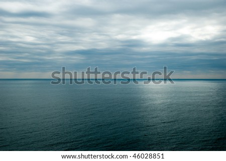 under cloudy sky - stock photo
