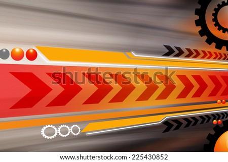 under construction background - stock photo