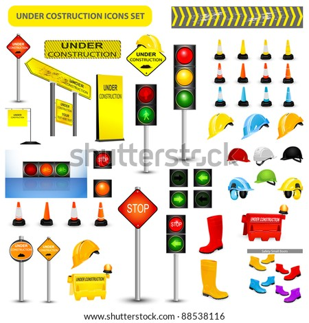 Under Construction Sign Collection.