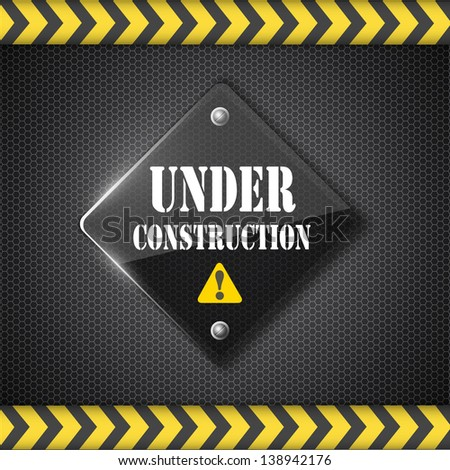 under construction sign. Raster copy of vector illustration - stock photo