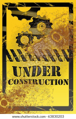 Under construction sign symbol - stock photo