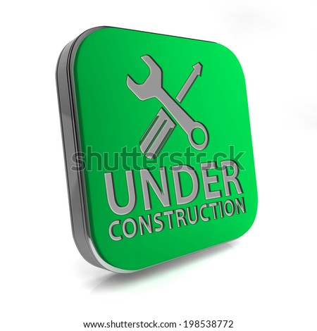 Under construction square icon on white background