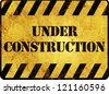 Under Construction Warning Sign - stock photo