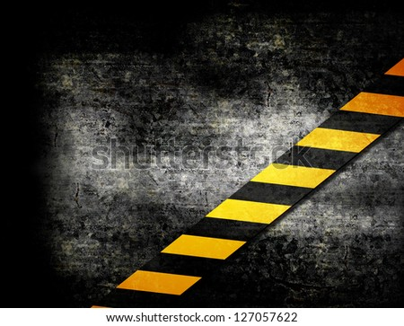 Under Construction with yellow stripes illustration - stock photo