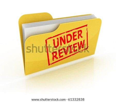under review icon - stock photo