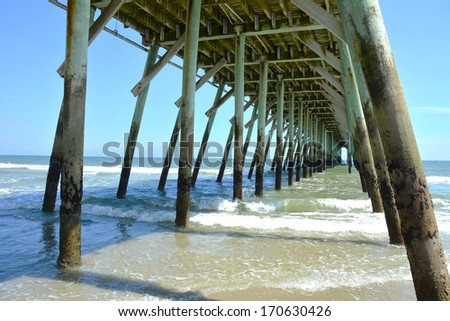 Under the Fishing Pier  - stock photo
