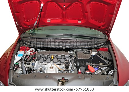 under the hood - stock photo