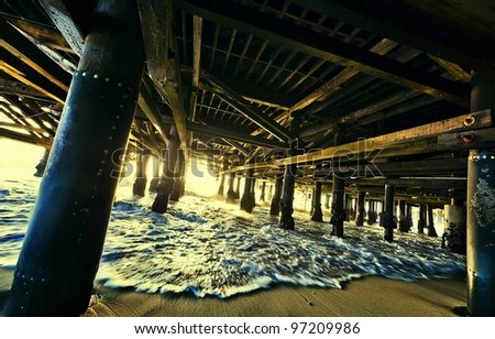 Under the pier - stock photo
