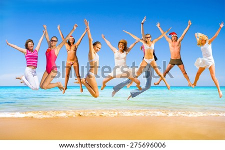 Under the Sun Summer Exercise  - stock photo