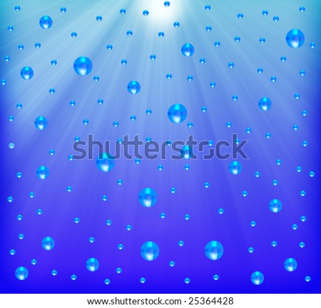 under the water - stock photo