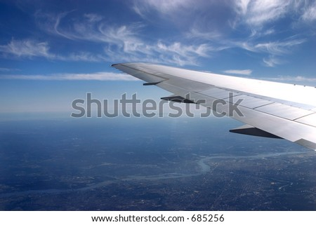 under the wing - stock photo