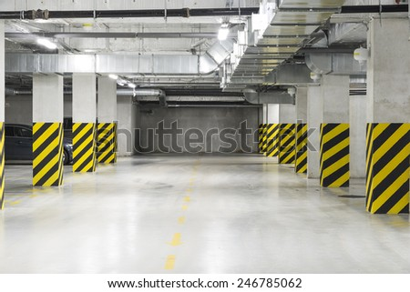 Underground garage  - stock photo