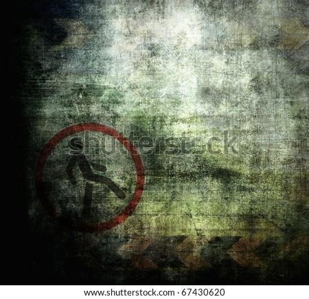 Underground grunge background, dirty scratched texture with space for text - stock photo