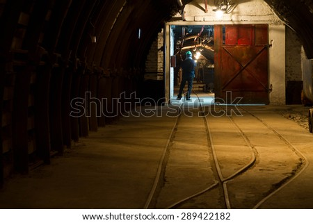 Underground mine - stock photo