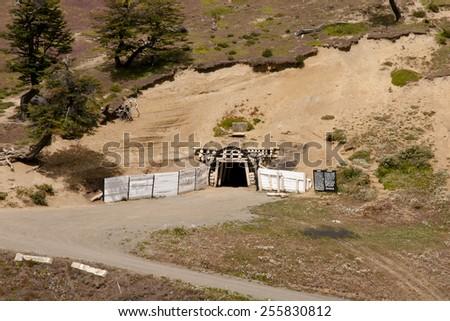 Underground Mine Entrance - Rio Turbio - Argentina - stock photo