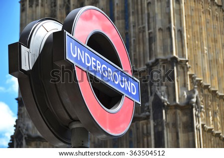 Underground sign in London - stock photo