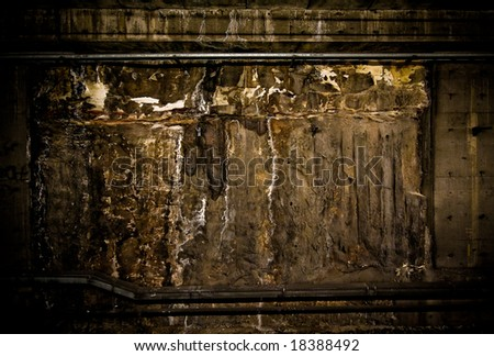 underground subway grunge wall - stock photo